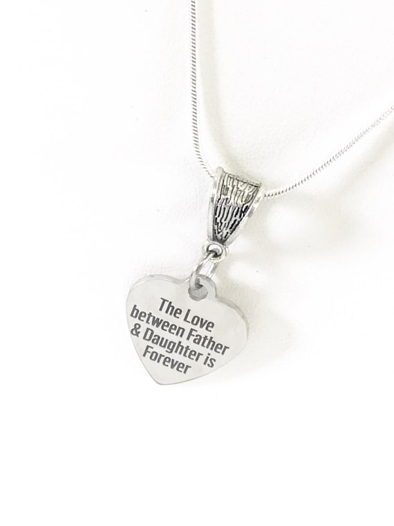 The Love Between Father And Daughter Is Forever Necklace, Wedding Gift For Daughter, Remembering Dad, Graduation Necklace Gift for Her