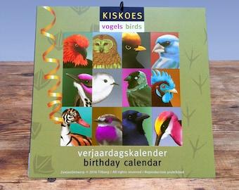 Birthday Calendar BIRDS