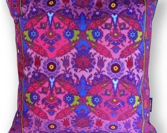 Sofa pillow purple velvet cushion cover VIOLA