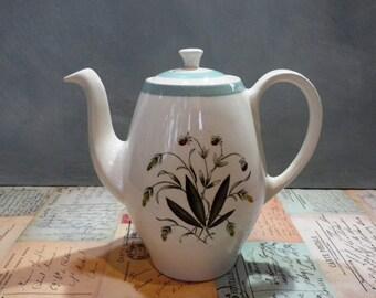 Alfred Meakin 'Hedgerow' Coffee Pot Vintage 1950's coffee pot Meakin Kitchenalia