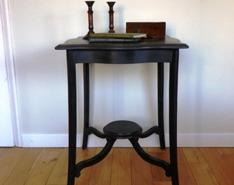 Edwardian Mahogany Painted Occasional Table - Antique Table