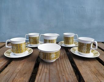 Crown Devon 'Canberra' Coffee Service 1960's Coffee Service Coffee Cups