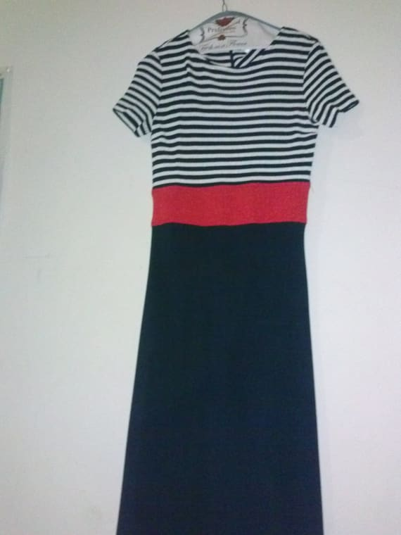 Vintage 90's Nautical Inspired Red and Blue Dress