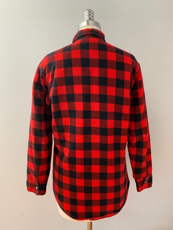 Vintage Champion red & black flannel shirt - image 3