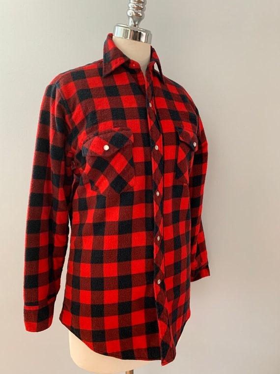Vintage Champion red & black flannel shirt - image 2