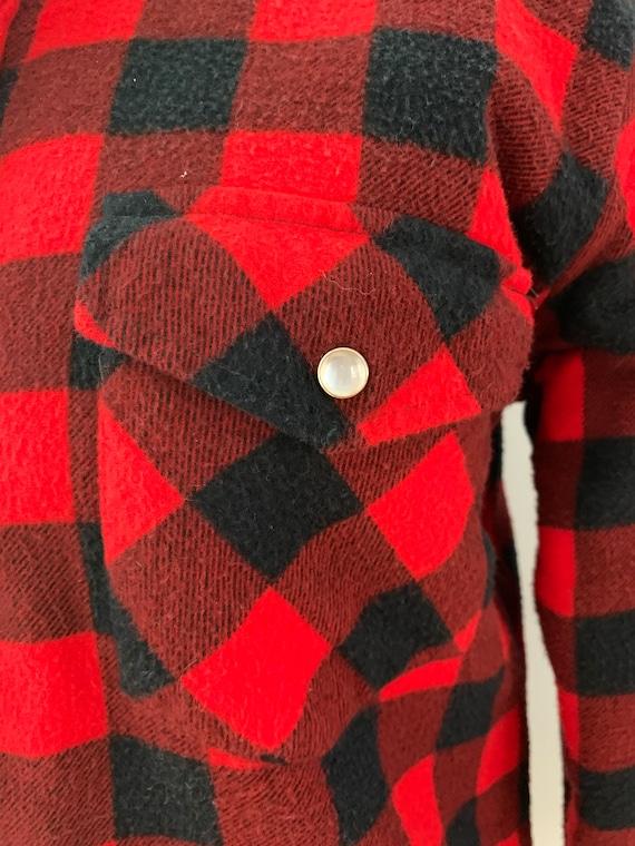 Vintage Champion red & black flannel shirt - image 9