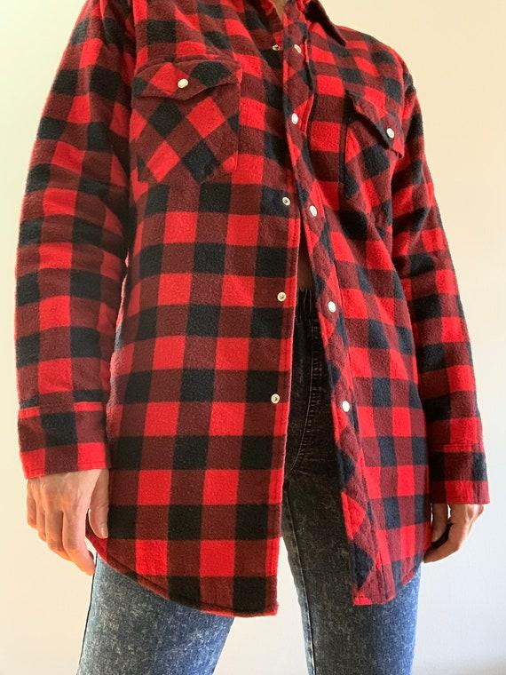 Vintage Champion red & black flannel shirt - image 1