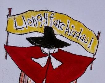 Cerdyn Cymraeg 'Llongyfarchiadau' - Welsh 'Congratulations' card