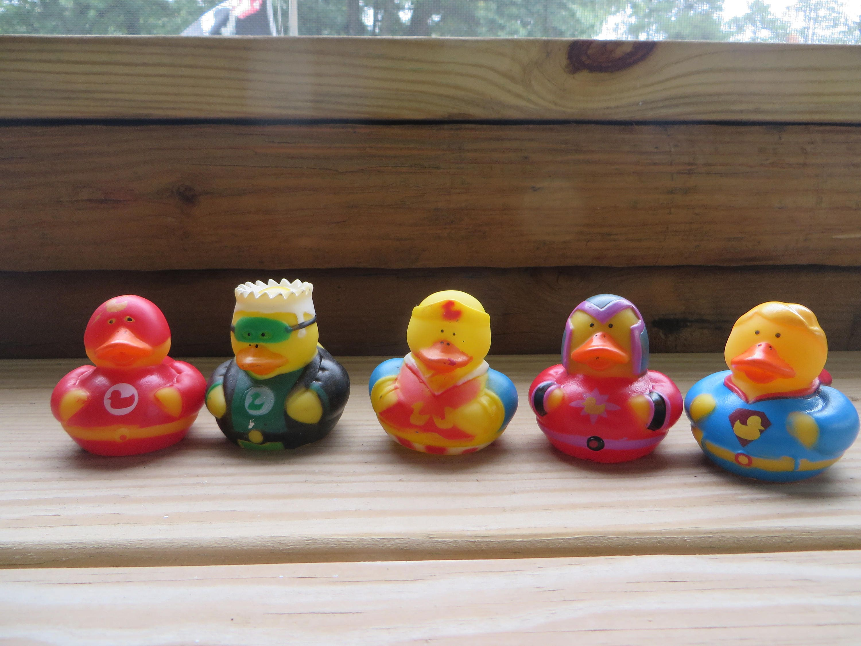 Super duper rubber ducks Green Lantern party favors | Etsy