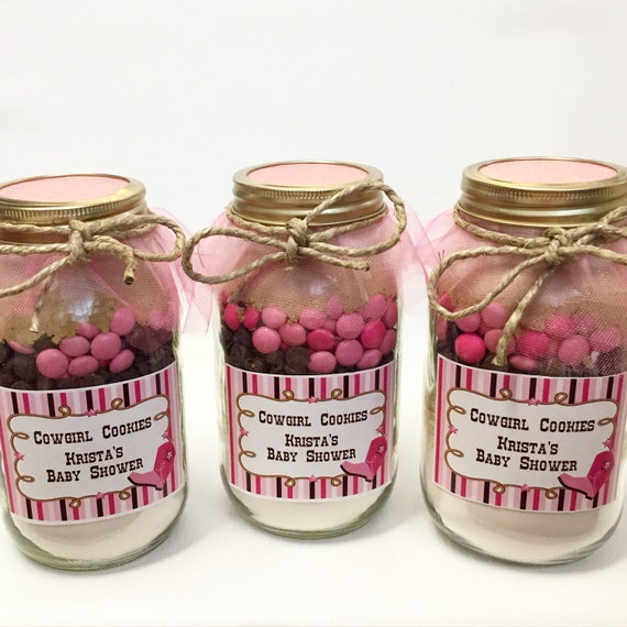 Pink Cowgirl Mason Jar Layered Gourmet Cookie Mix Etsy