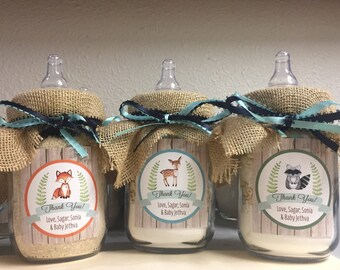 Rustic Woodland Forest Baby Animals Mason Jar Cookie Mix Party Favors