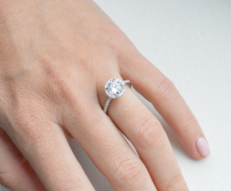 7e80d513634 14k Classic Solitaire Engagement Ring Diamond Alternative