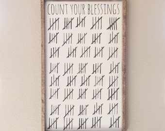 Count your blessings sign
