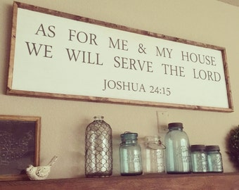 We Will Serve The Lord wooden sign