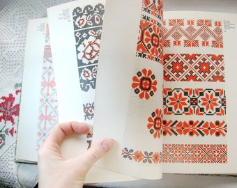 """Ukranian needlepoint book/ embroidery book/ cross-stitch patterns/ """"Artistic Needlework"""" / creative embroidery/ USSR in Russian"""