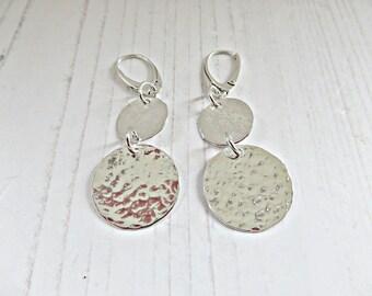0957ce24741c8 Double disc earrings | Etsy