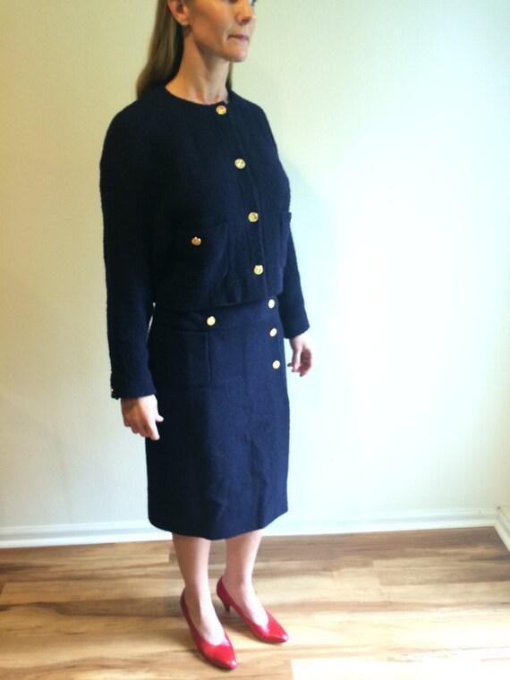 ec5f383655f4 Vintage tailleur CHANEL vente authentique Haute Couture Coco   Etsy