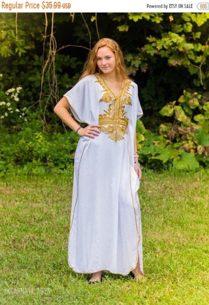 Sale White Moroccan kaftan Batwing Maxi Dress Dubai Sexy  c05257233f6