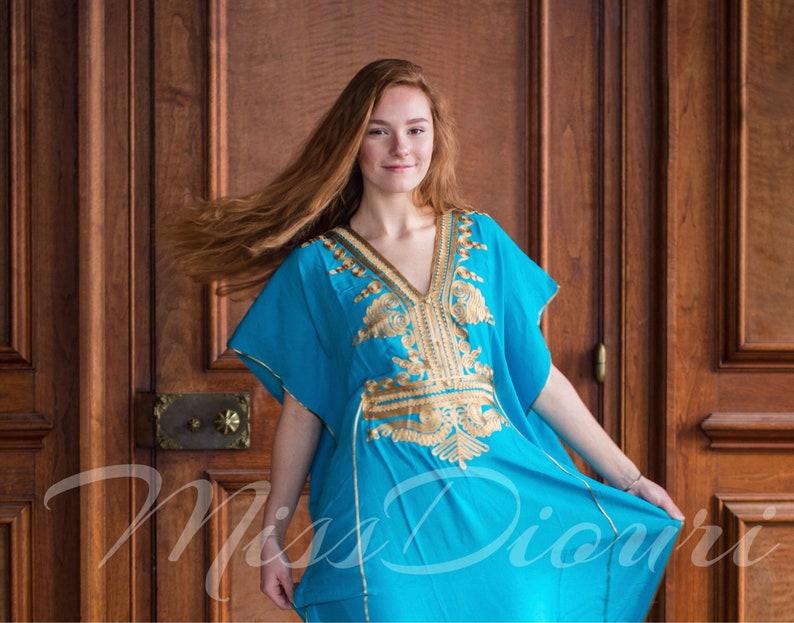 Sale Aqua Moroccan kaftan Batwing Maxi Dress Dubai Sexy  165df0cf74e