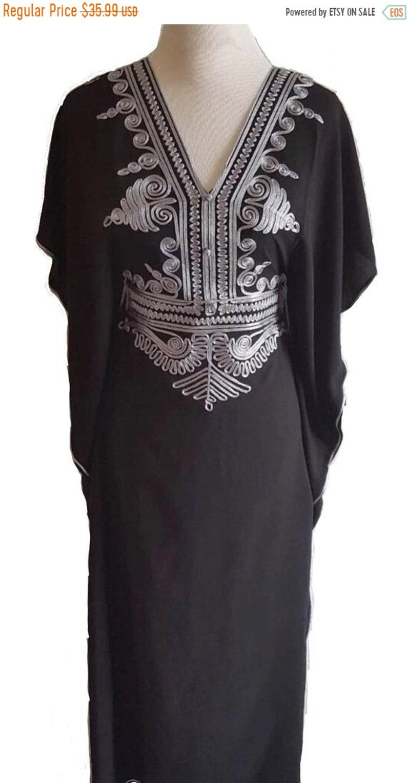 Sale Black Moroccan kaftan Batwing Maxi Dress Dubai Sexy  dbb3770f771