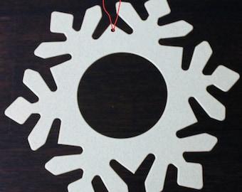 Snowflake Frames (25/pk) with Optional Holes | Die cut Snowflakes | 9 inch snowflakes | Cardstock Snowflakes | Garland Supplies