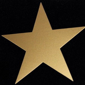 Gold Stars 50 pcs various sizes Large Gold Paper Stars Wedding decorations Paper Die Cut Stars Holidays Wedding Party Birthday