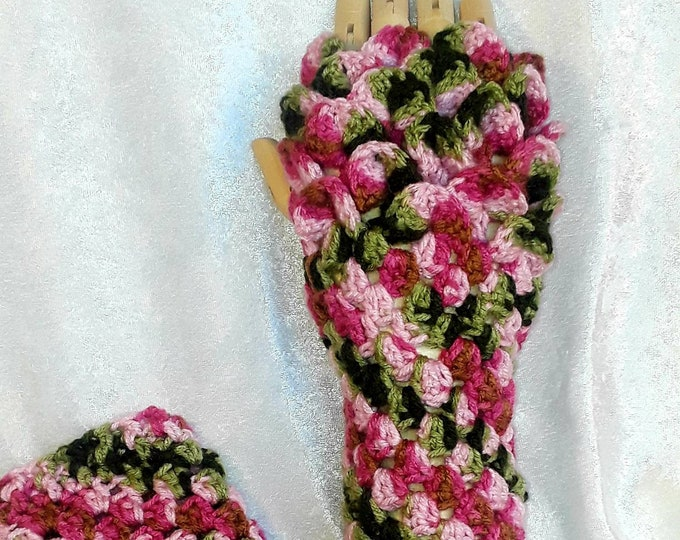 Fantasy Fingerless Crocheted Gloves
