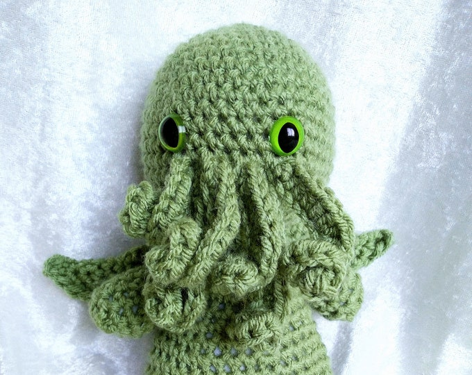 Cthulhu Crocheted Plush Doll