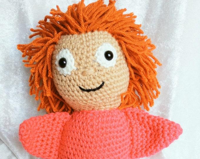Ponyo Inspired Crochet Plush Doll
