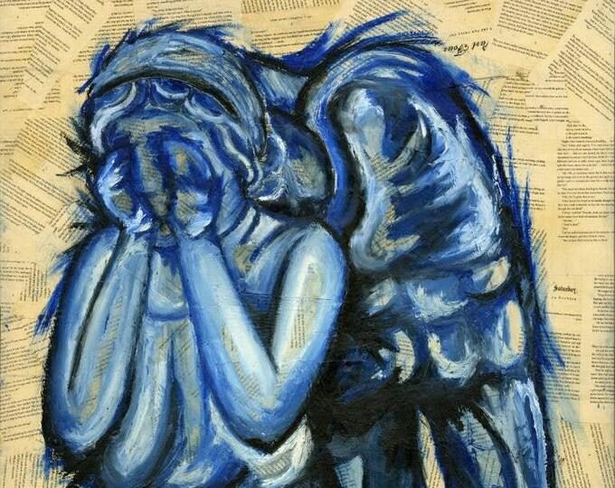 "Blue Angel - 11""x14"" Print of Original Art By Kelly Hawthorne II"