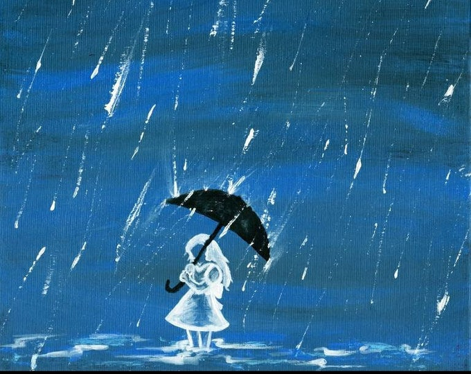 """Once There Came a Girl In the Form of a Storm - 11""""x14"""" Print of Original Art By Kelly Hawthorne II"""