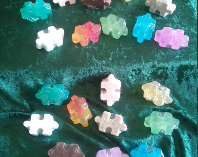 Puzzle Piece Handcrafted Soaps in 12 Fandom Inspired Scents