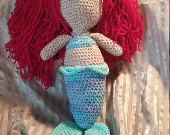 Mermaid Crochet Plush Rag Doll