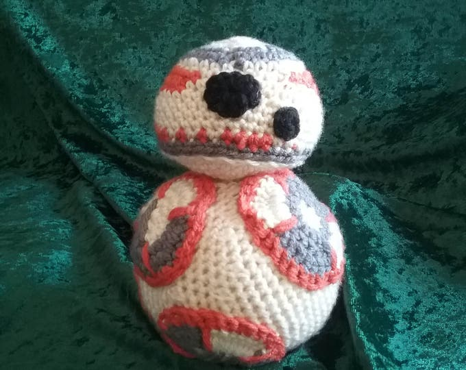 Star Wars Inspired BB8 Amigurumi Crocheted Plushie
