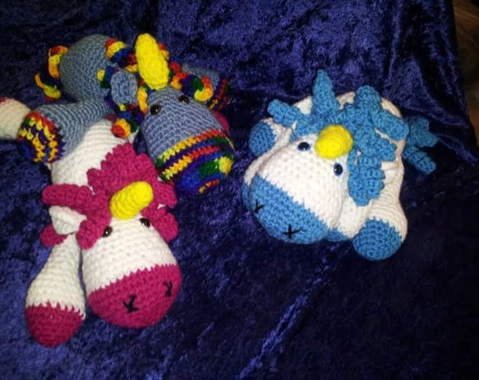 Ragdoll Unicorn Amigurumi Crocheted Plush