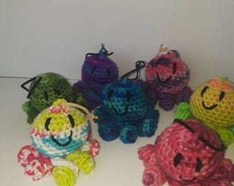 Baby Octopus Ornaments, Keychains, Zipper Pull