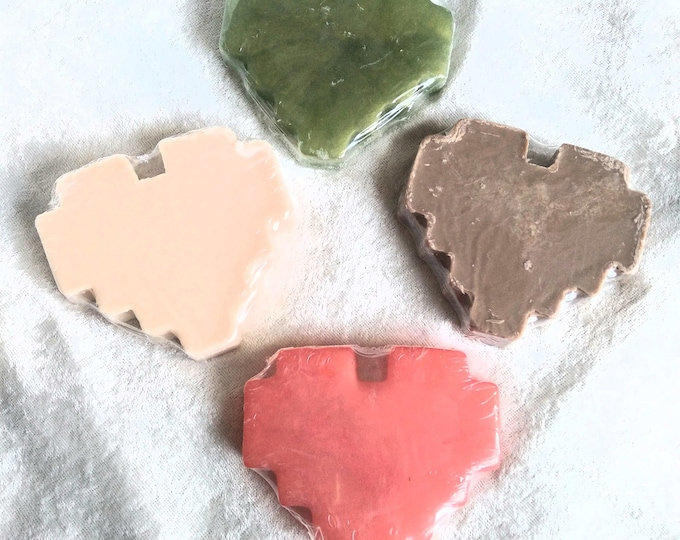 8-Bit Heart Shaped Handcrafted Soaps Available in 4 Video Game Inspired Scents