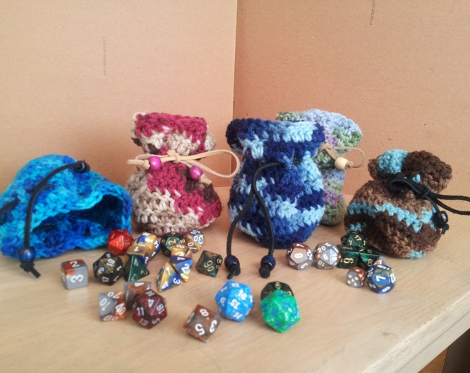 Dice Bag/Coin Purse/Crochet Pouch
