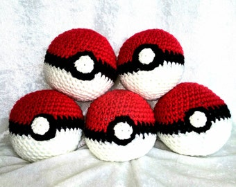 Pokemon Balls Crochet Plush
