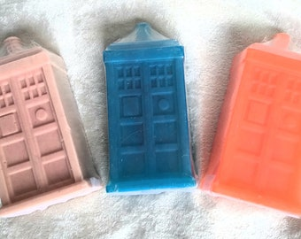 Tardis Shaped Handcrafted Soap Available in 3 Doctor Who Inspired Scents