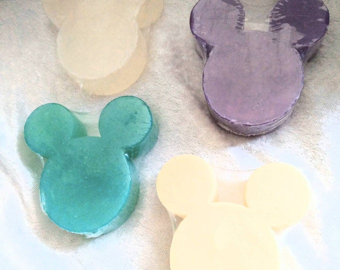 Mouse Ears Shaped Soaps in 4 Disney Inspired Scents