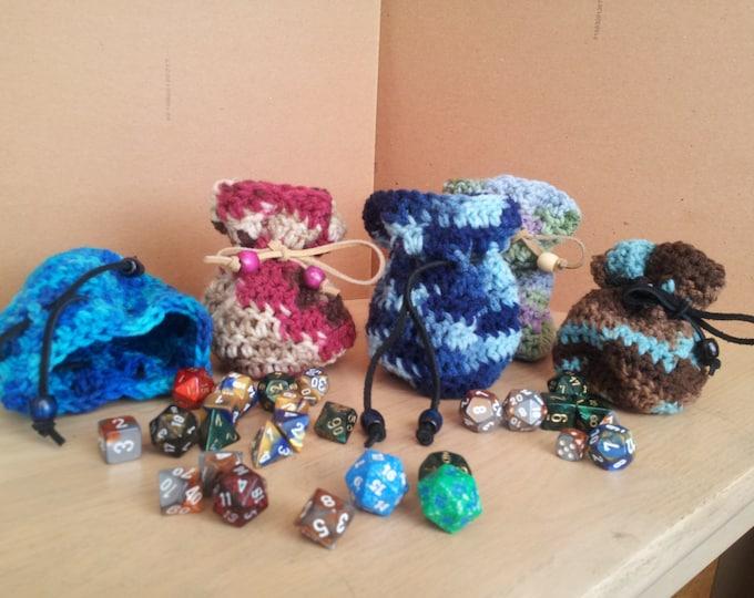 Dice Bag/Coin Purse/Crochet Pouch