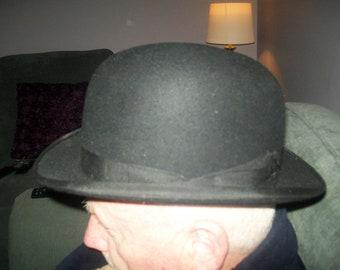 Vintage bowler hat. G A Dunn and Co London. Bowler Hat. English bowler. 3ad1b56a6b94