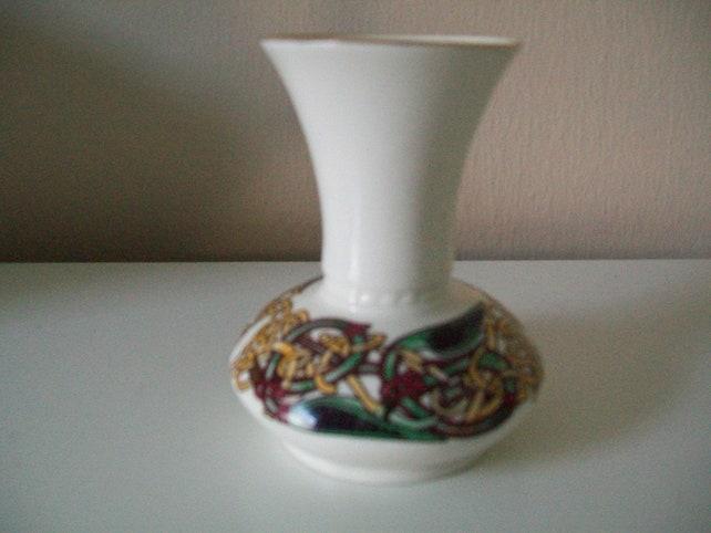 Irish Ceramic Posy Vase By Cre Small Irish Porcelain Vase Etsy
