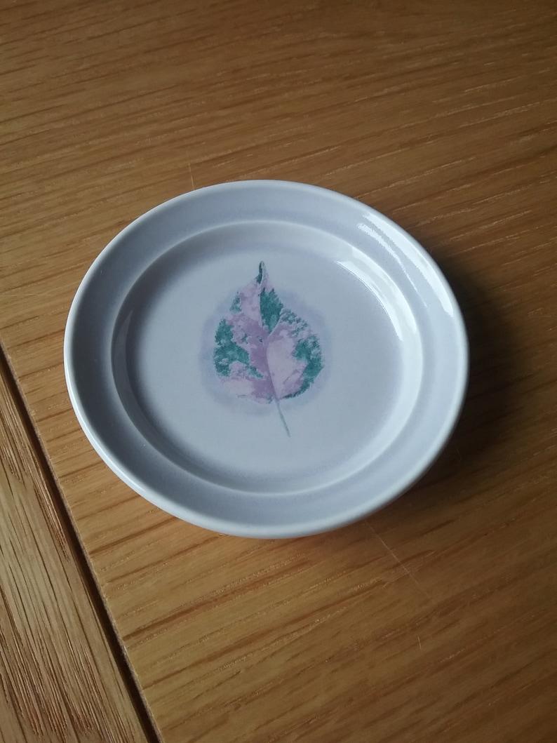 Dusk Pattern  designed by Jo Gorman Vintage Portmeirion Butter Pat Dishes for 4 people C.