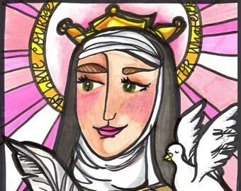 Saint Teresa Avila: The Mystic in Pink