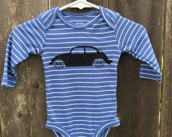 Vw Bug Long Sleeve bodysuit/onepiece size Newborn !