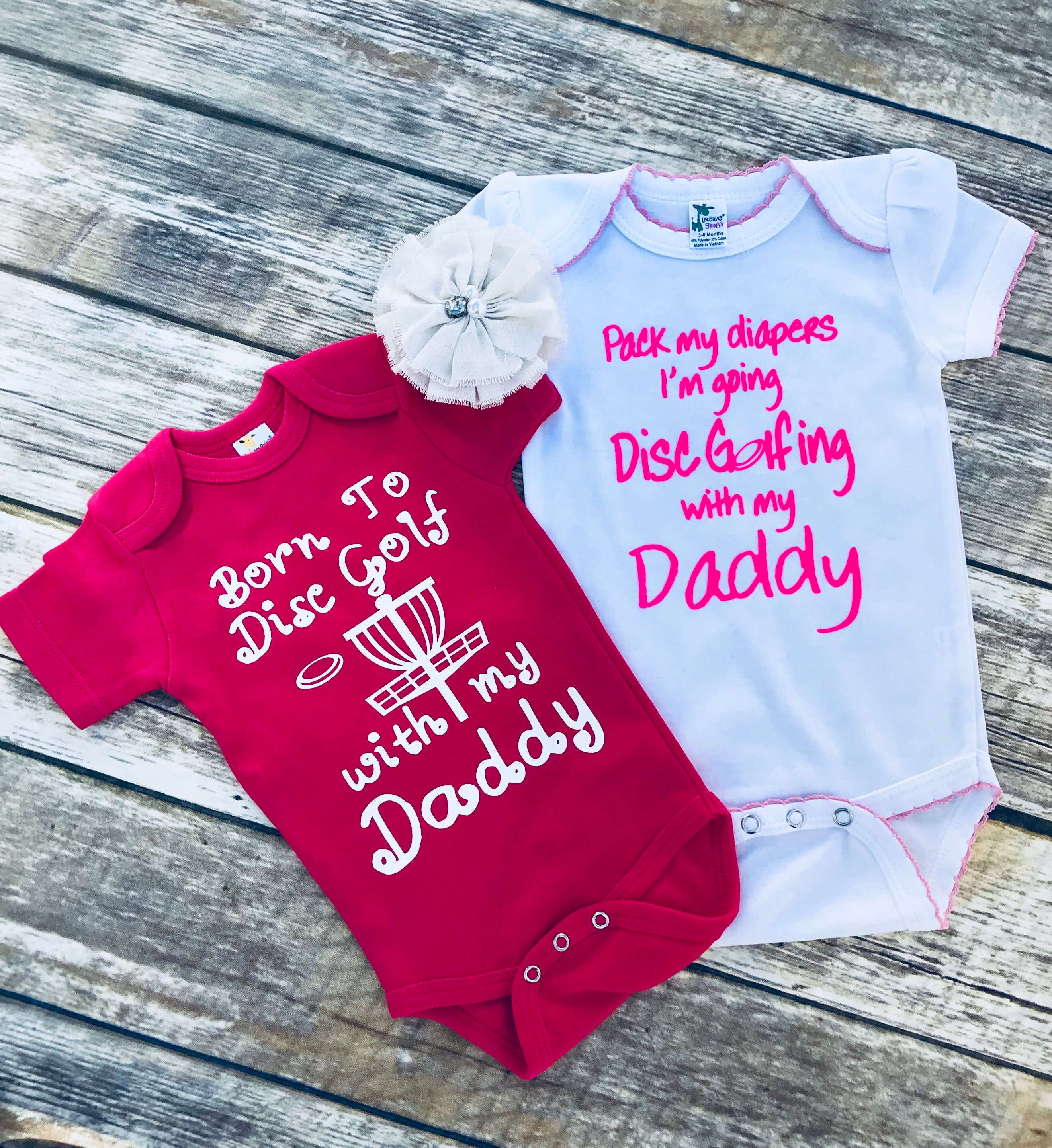 Future Disc Golf Buddy and Pack my diapers I\'m going Disc