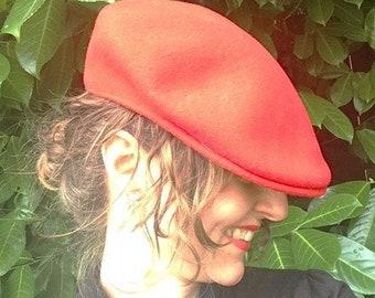 50e26dcc806 Vintage Cherry Red Kangol 100% Wool Cap