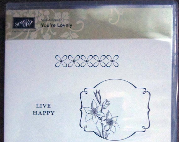 Stampin' Up! You're Lovely clear mount stamp set